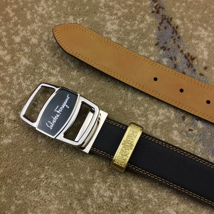 Ferragamo Adjustable Vara Buckle Belt