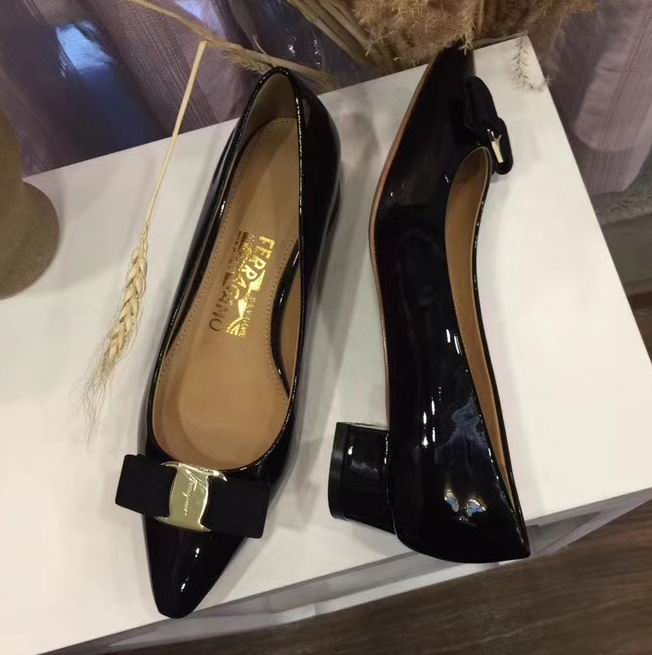 Ferragamo Emy 30mm Pump in Patent Black