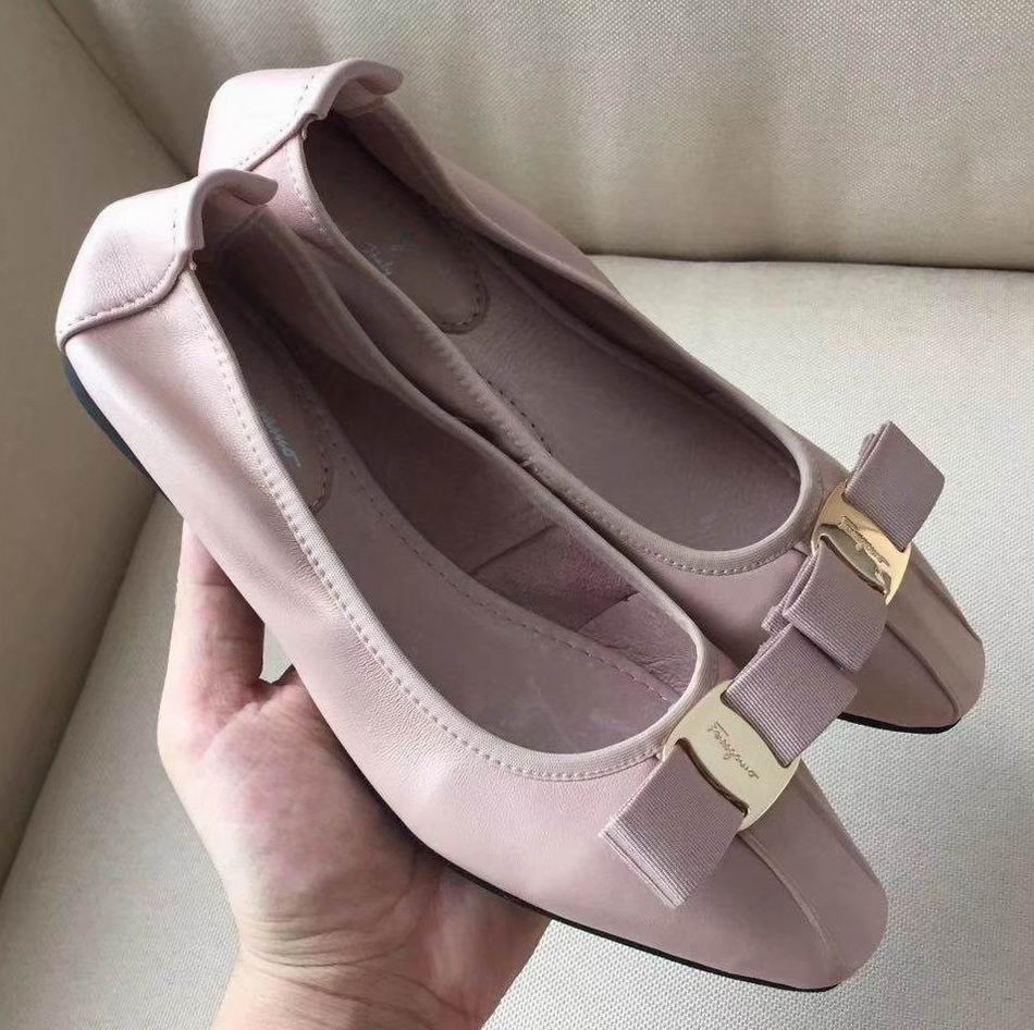 Ferragamo Ballet Flat Sneakers with Vara Bow Pink