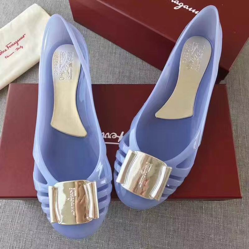 Ferragamo Bermuda Cutout Jelly Wedge Sandals Violet