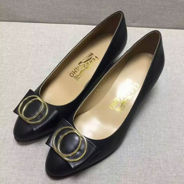 Ferragamo Bow Detail Pump Black