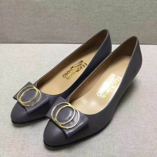 Ferragamo Bow Detail Pump Grey