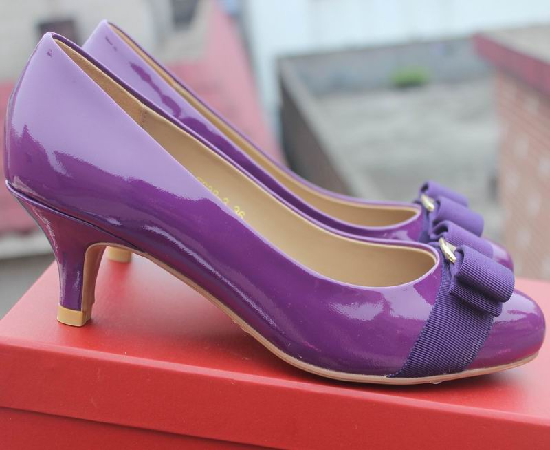 Ferragamo Carla Pump Purple