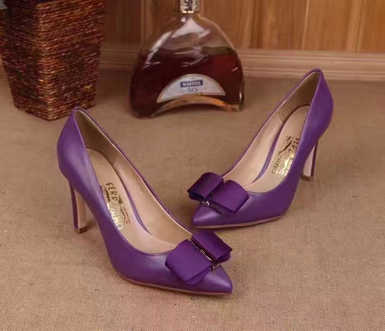Ferragamo Mimi Pump Purple