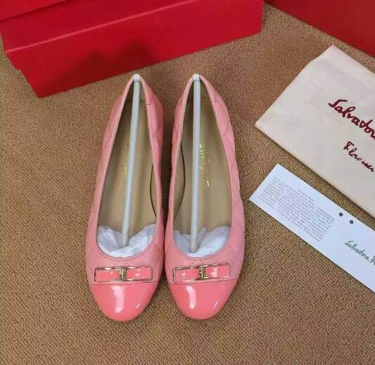 Ferragamo My Quilted Flats Pink