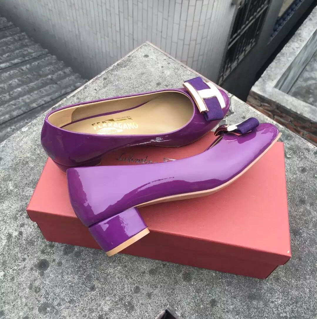 Ferragamo Ninna Pump Purple