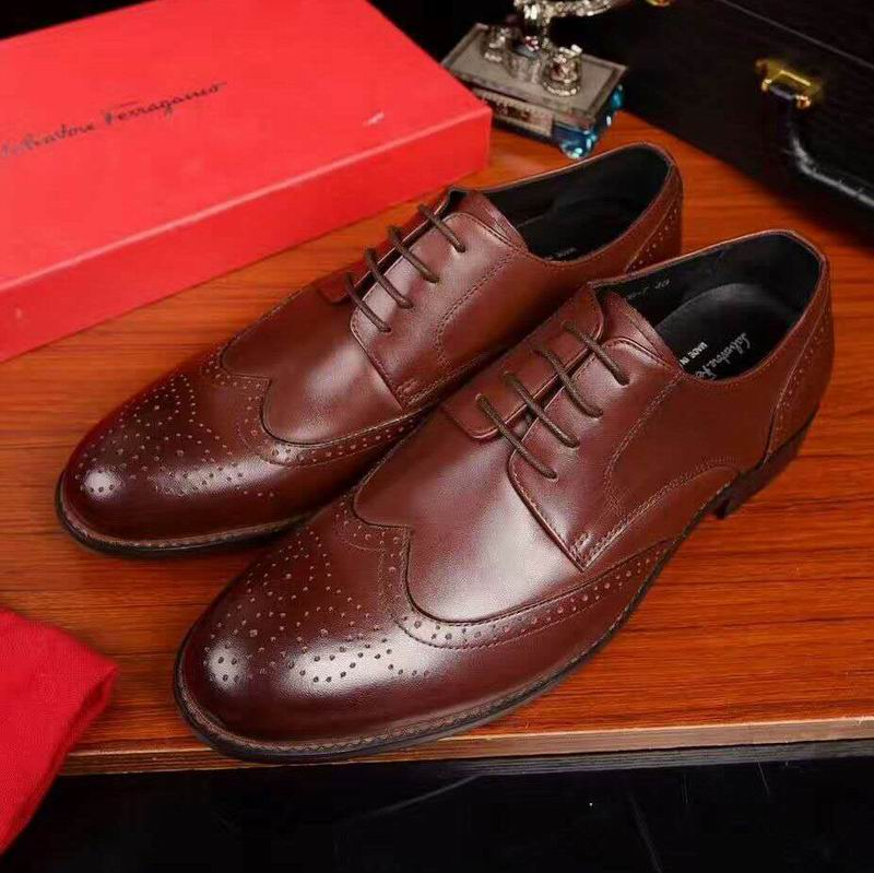 Ferragamo Spectator Wing-Tip Derby shoes